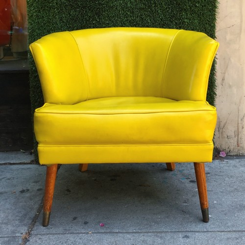 Yellow retro chair from 'this is not ikea'