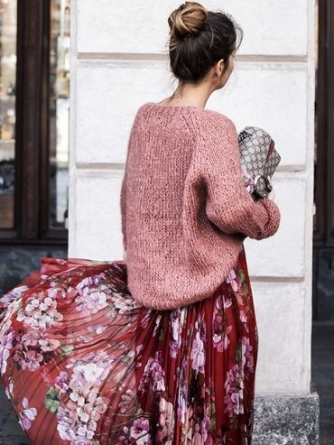 street style floral look