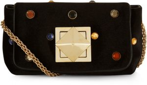 sonia-rykiel-black-velvet-shoulder-bag