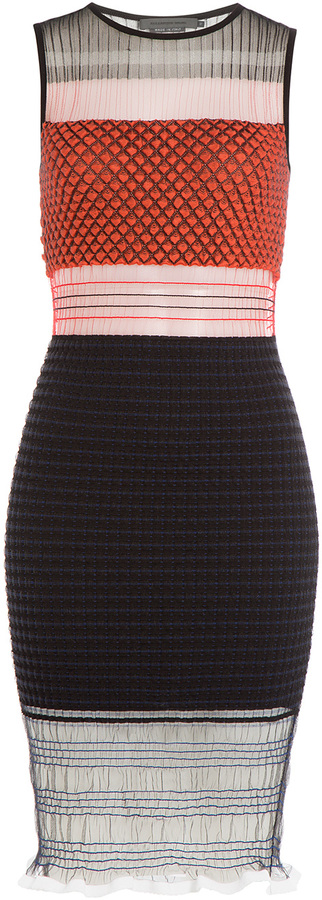 alexander-wang-knitted-stretch-dress-with-tulle