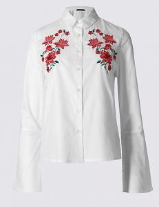 LIMITED EDITION PURE COTTON EMBROIDERED SHIRT