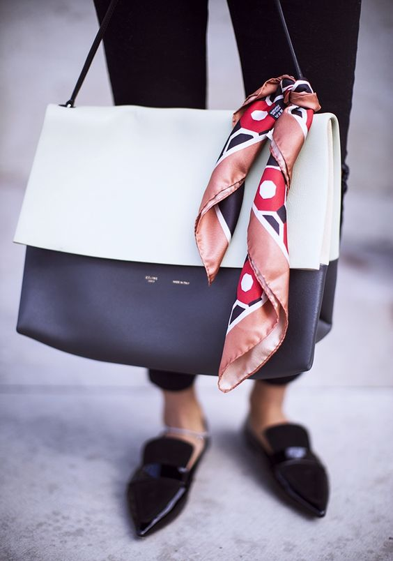 celine bag scarf