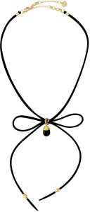 NAKAMOL SUEDE BOW-TIE CHOKER NECKLACE, BLACK