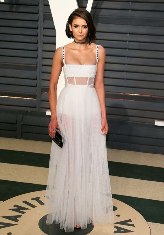 Nina Dobrev in Christian Dior