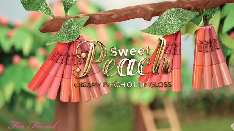 Sweet Peach Creamy Peach Oil Lip Gloss Too Faced