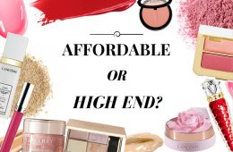 affordable or high end make-up