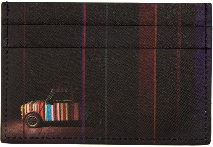 Paul Smith Black Mini Cooper Card Holder