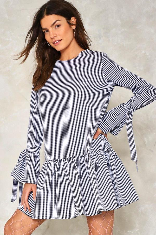 nastygal Square One Gingham Dress