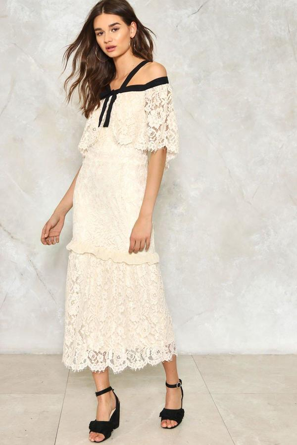 nastygal Thrill of the Lace Dress