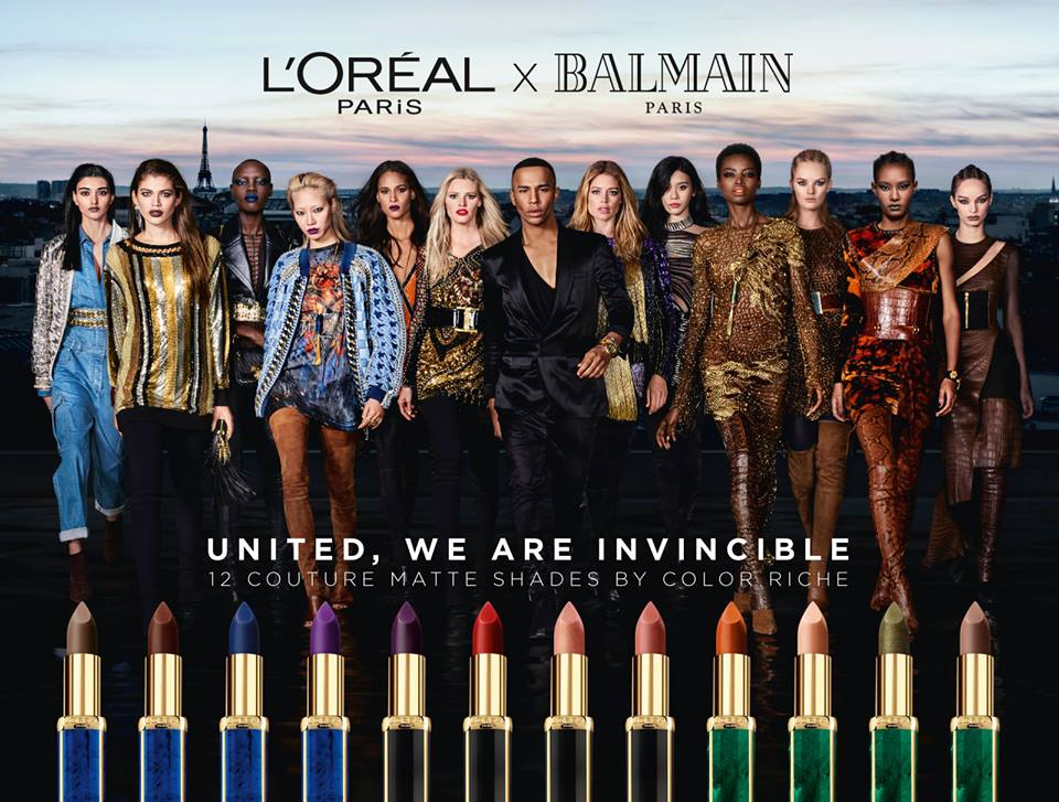 L'OREAL X BALMAIN united invincible models campaign