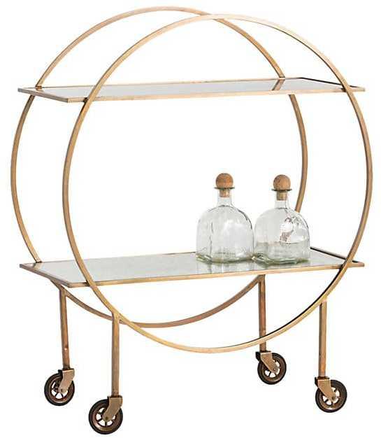 gold bar cart - interior design