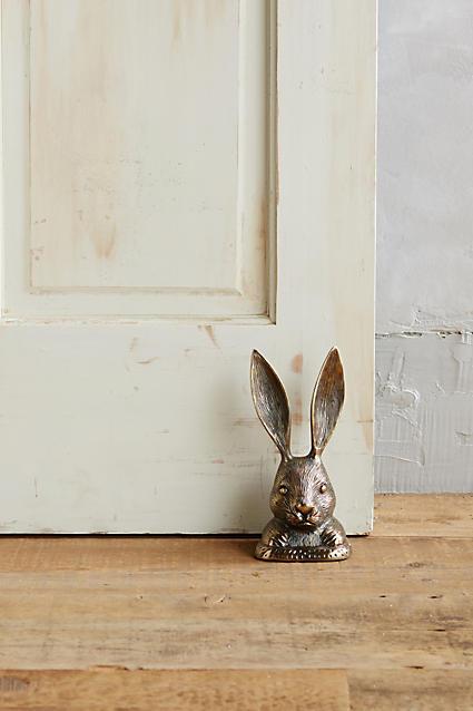 Anthropologie Rabbit Ears Doorstop