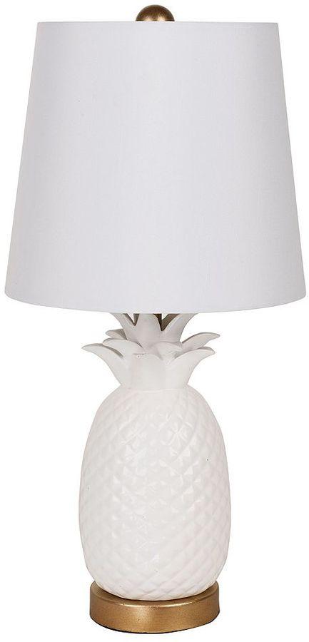 Catalina Lighting White Pineapple Table Lamp