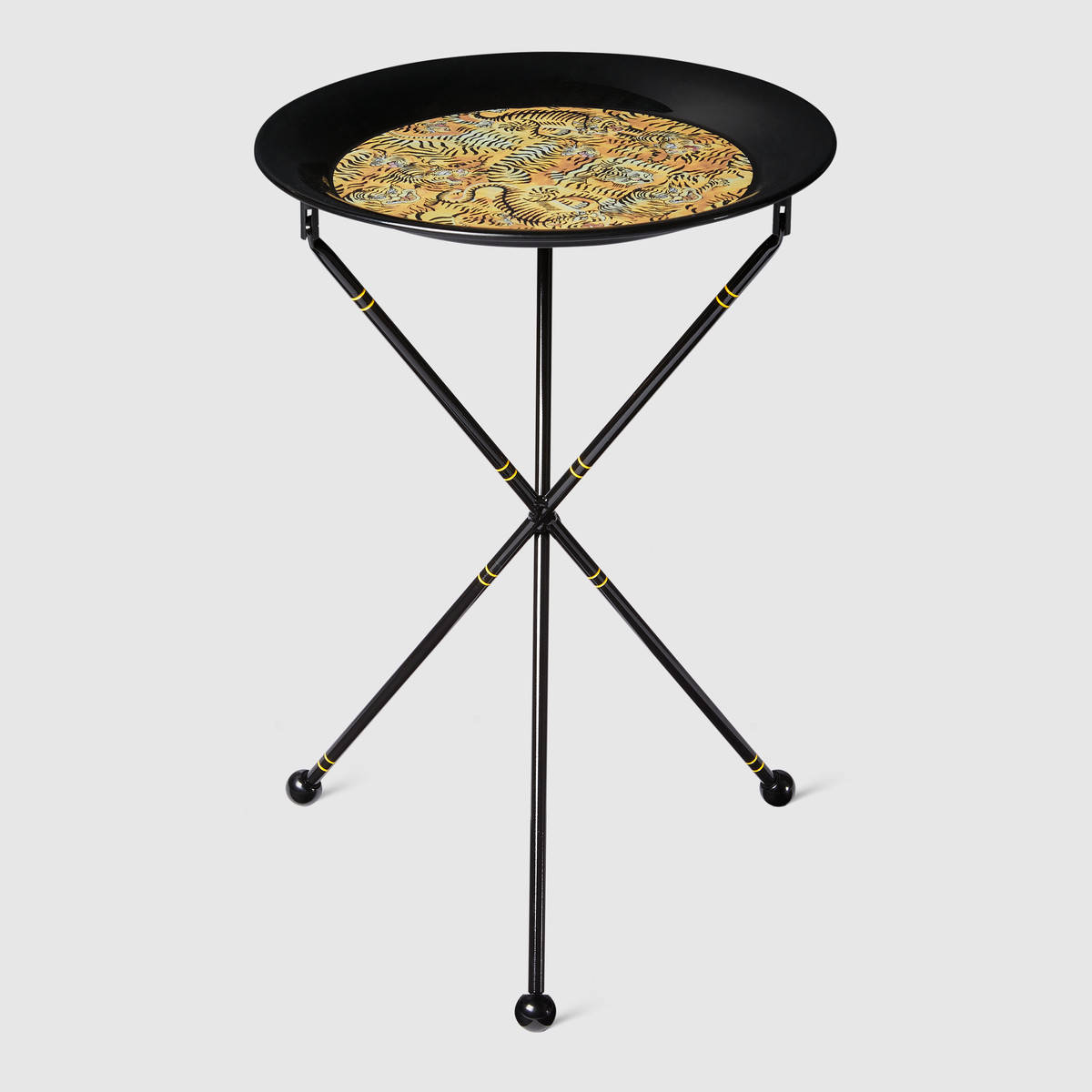 Gucci Decor Tigers-print-metal-folding-table