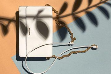 designer bags flat lay