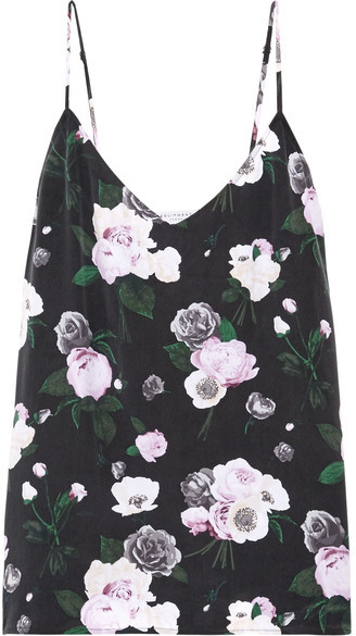 Equipment - Layla Floral-print Washed-silk Camisole