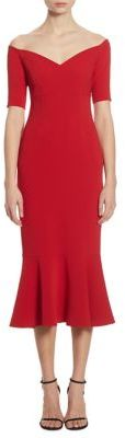 Cinq a Sept Marta Off-The-Shoulder Trumpet Dress