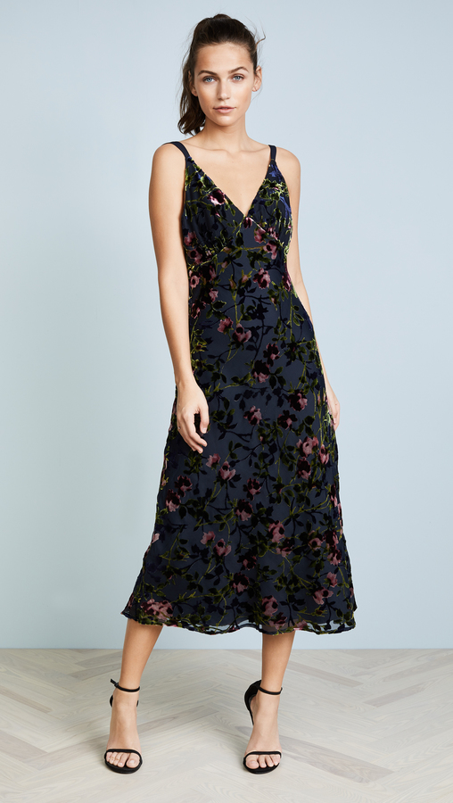 WAYF Sedona Bias Midi Dress