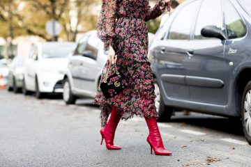 red shoes 2017 street style