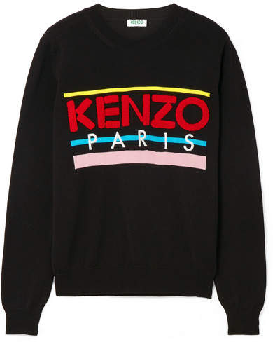 KENZO - Embroidered Cotton logo Sweaters