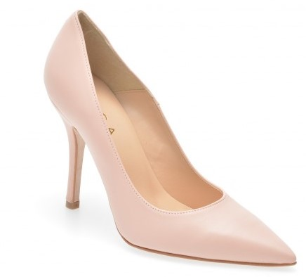 otter high heel pointed nude shoes