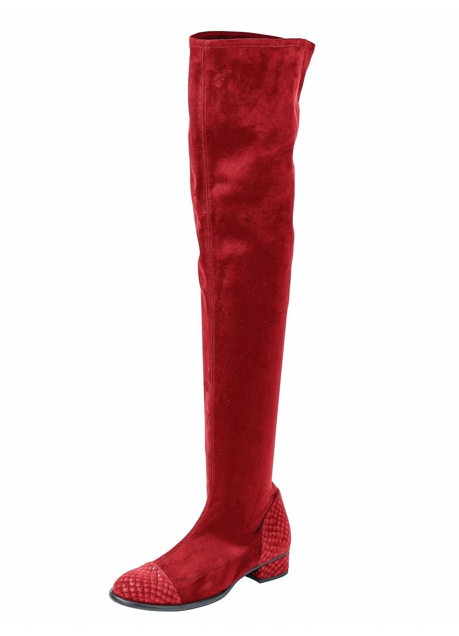heine red boots