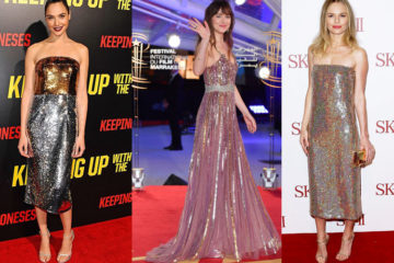 sequin party dresses - red carpet celebrity