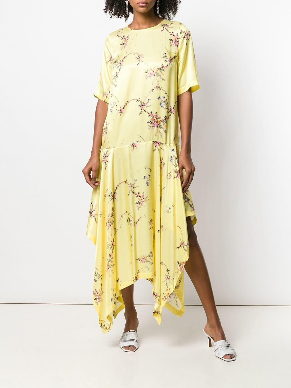 preen-by-thornton-bregazzi-yellow-Asymmetric-Maxi-Dress