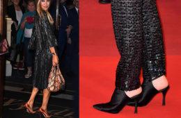 satin shoes 2019 celebrity wear